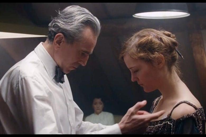 Daniel Day-Lewis and Vicky Krieps in Phantom Thread (2017)