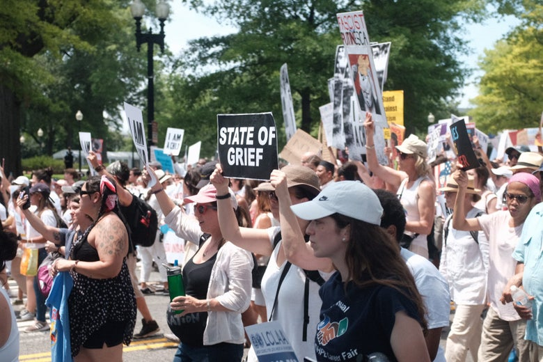A crowd of demonstrators.