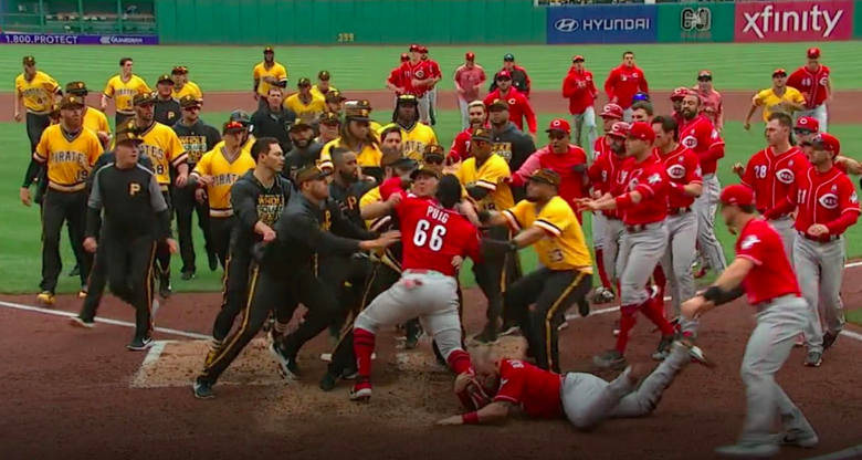 Reds-Pirates Kerfuffle Results in Five Ejections and One Inspiring Image