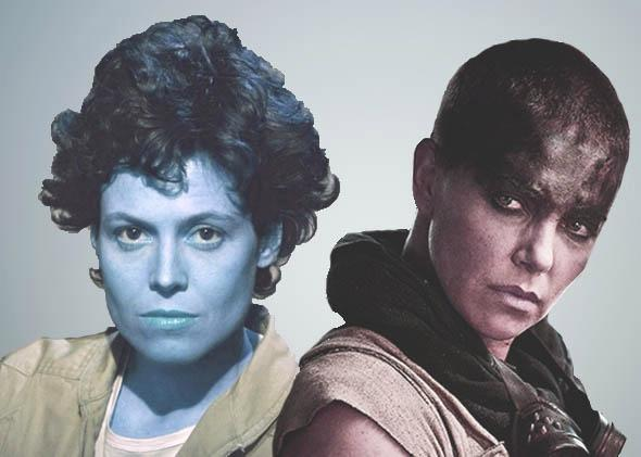 Ripley from Alien and Furiosa from Mad Max.