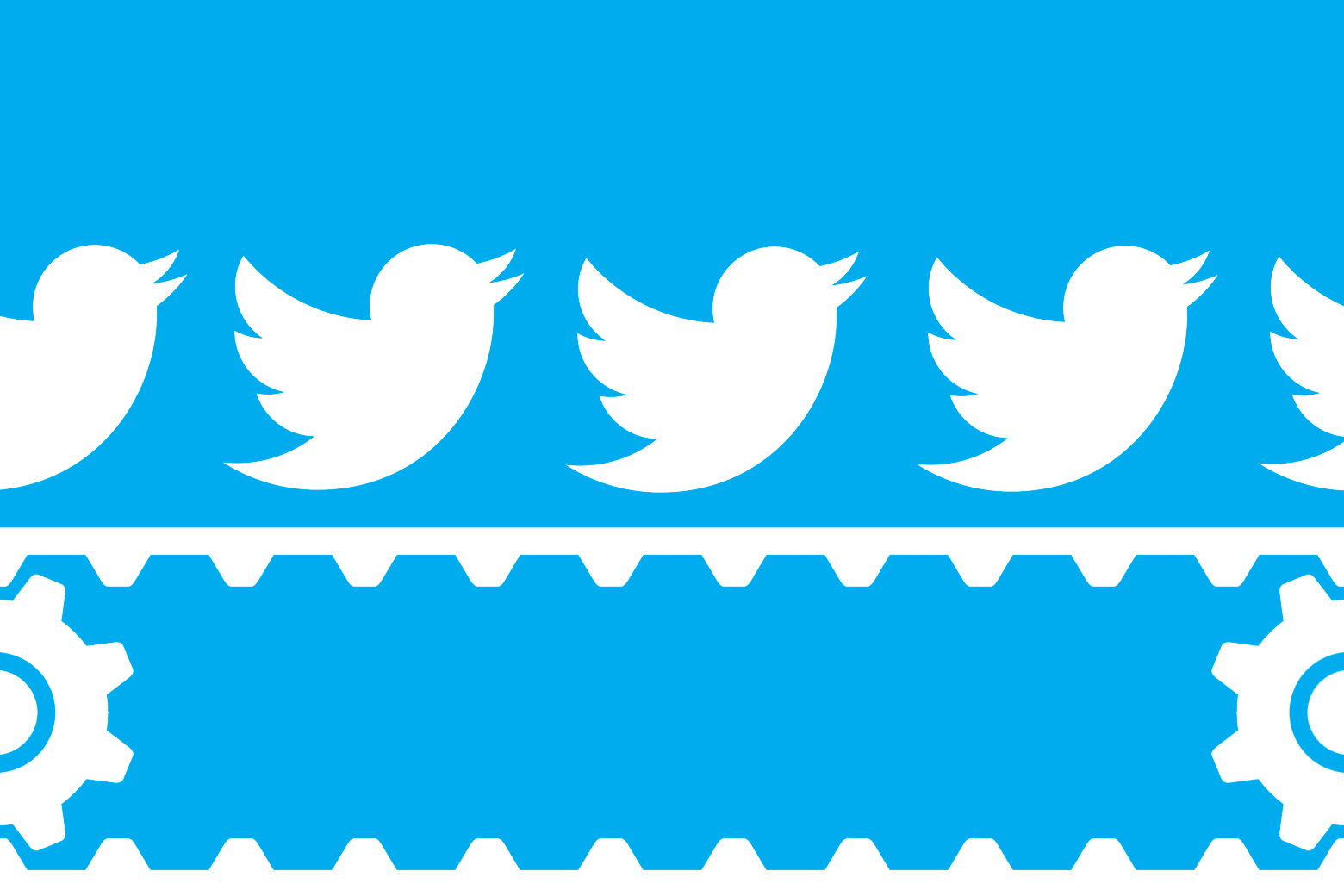An illustration of Twitter birds on a conveyor belt.