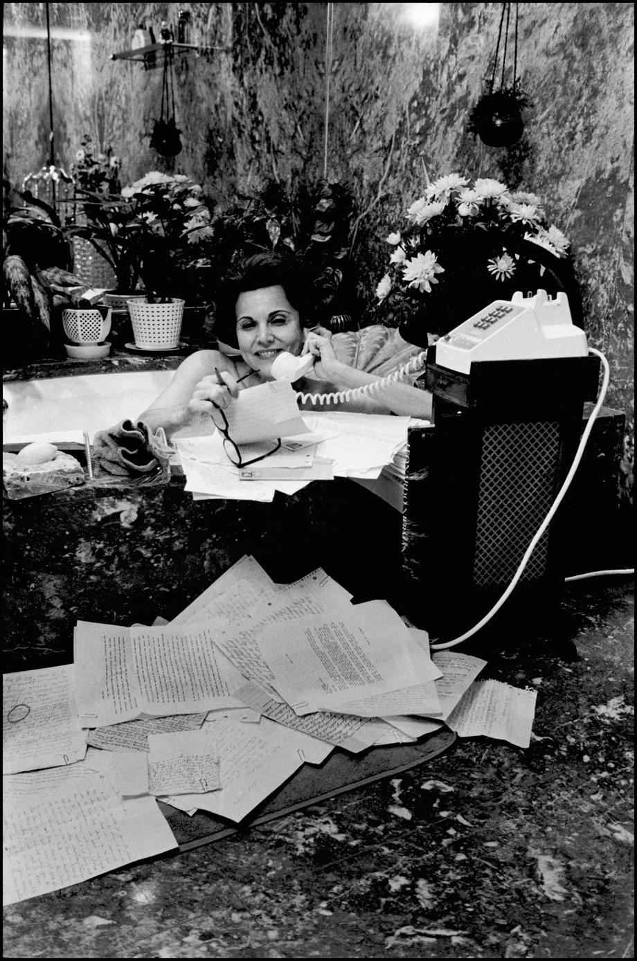 Advice columnist Ann Landers. 1974.