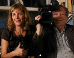 D.A. Pennebaker and his wife Chris Hegedus.
