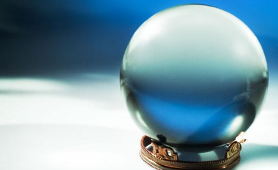 Close-up of crystal ball.