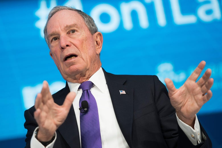 Mike Bloomberg speaks at a World Bank event in Washington, DC.