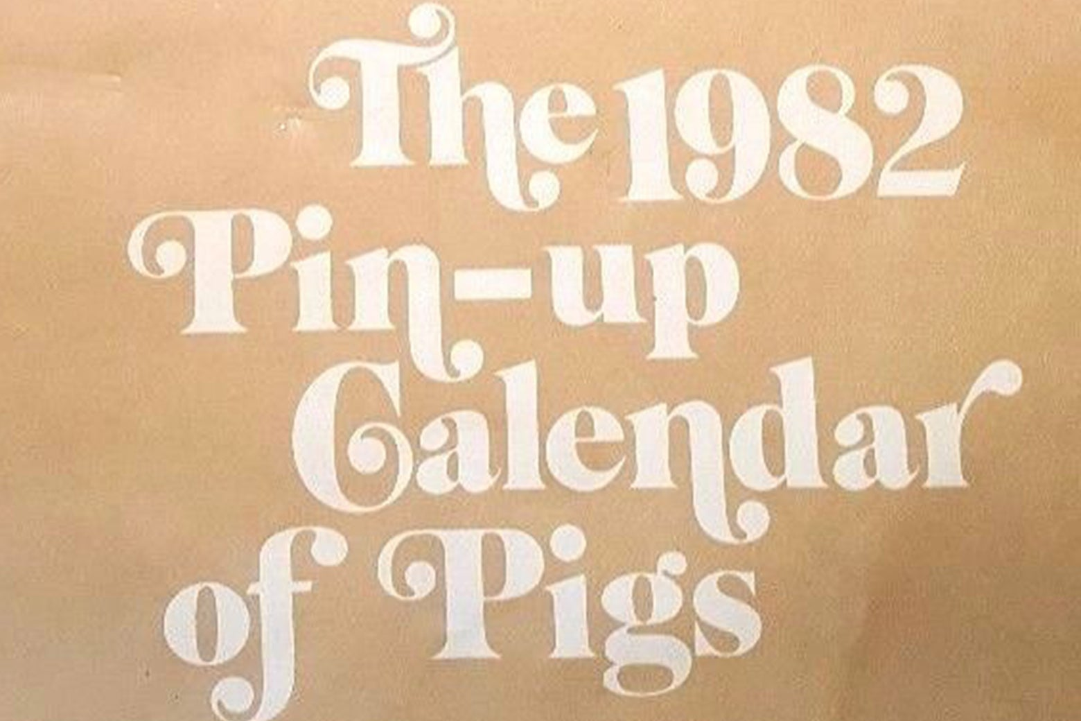 The cover of the Pin-Up Calendar of Pigs