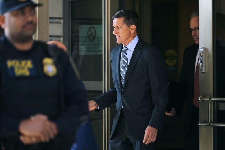 Michael Flynn following his plea hearing on Dec. 1, 2017 in Washington, DC.