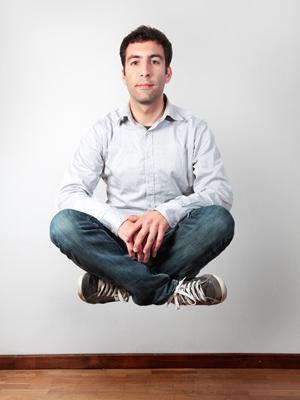 man levitating