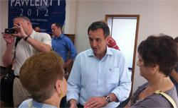 Tim Pawlenty campaigning in Iowa.