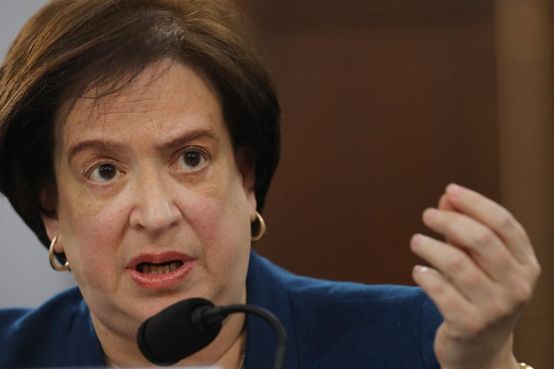 Justice Elana Kagan testifies about the court's budget during a congressional hearing on March 07, 2019.