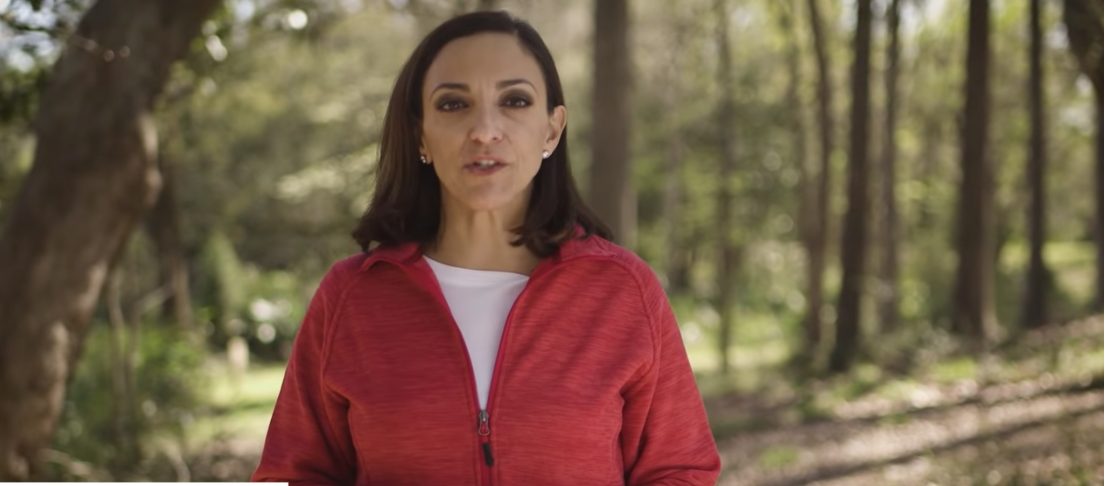 State Rep. Katie Arrington is seen in this screenshot from a video posted on her campaign website.