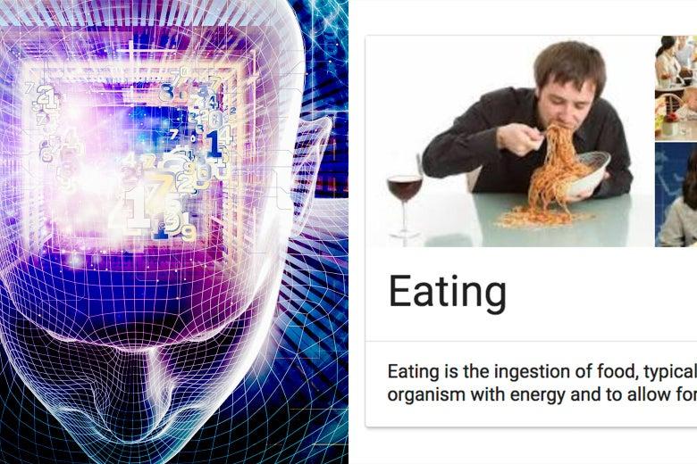 """A robot vs. a Google infobox about """"eating"""""""