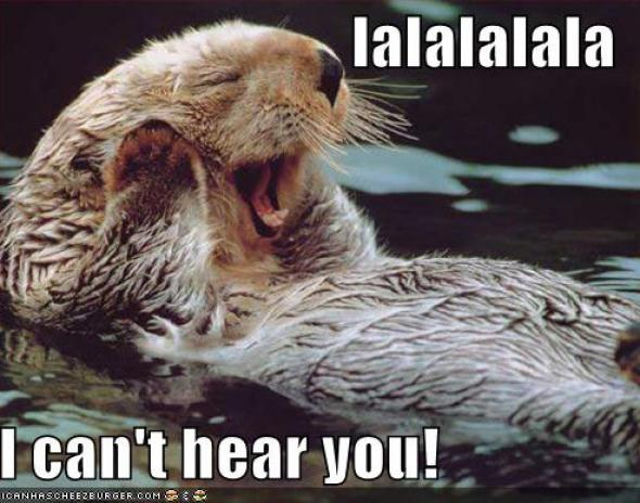 otter can't hear you