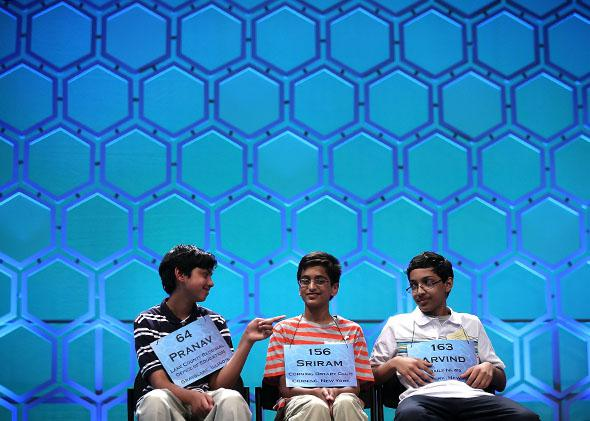 the finals of the 2013 Scripps National Spelling Bee.