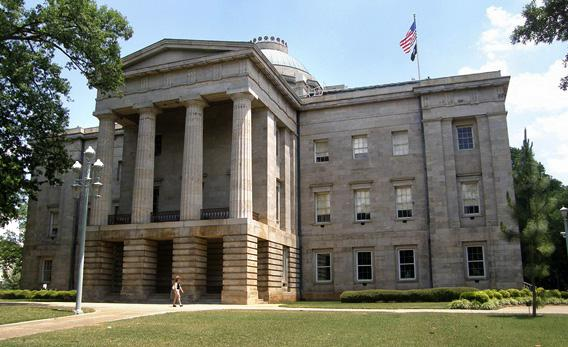 North Carolina State Capital building.