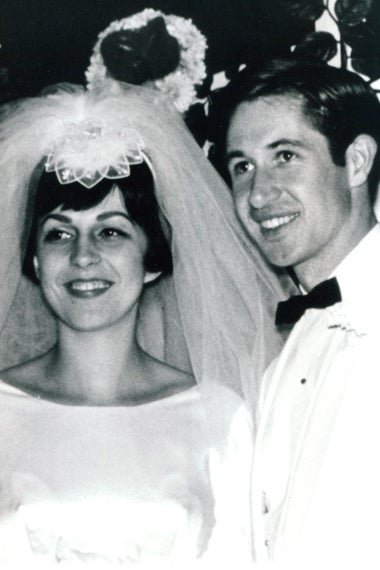 Courtesy of Gary Goodson. Gary Goodson and his wife Stephanie on their weddding day in 1967.