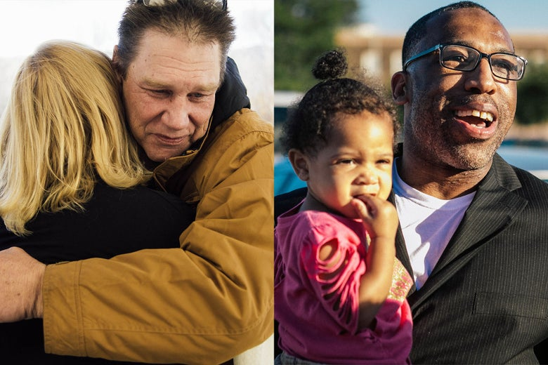Fred Steese, Anthony Wright with granddaughter.