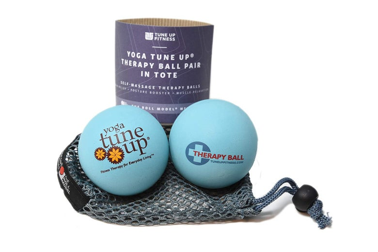 Therapy balls with carrying case