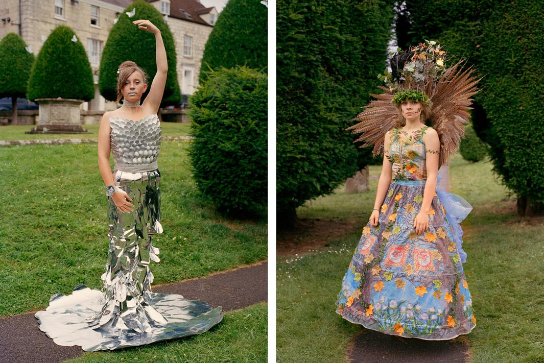 Left: Kasia Violet at Art Couture Painswick. Right: Rhiannon at Art Couture Painwick.