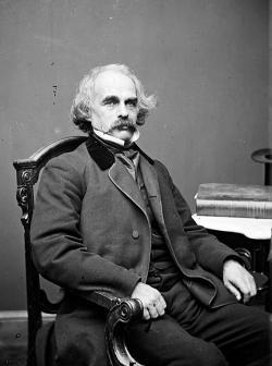 Nathaniel Hawthorne, between 1860 and 1864.