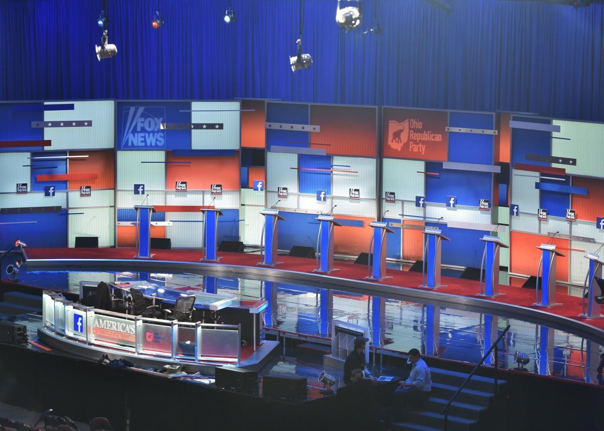 GOP primary debate stage