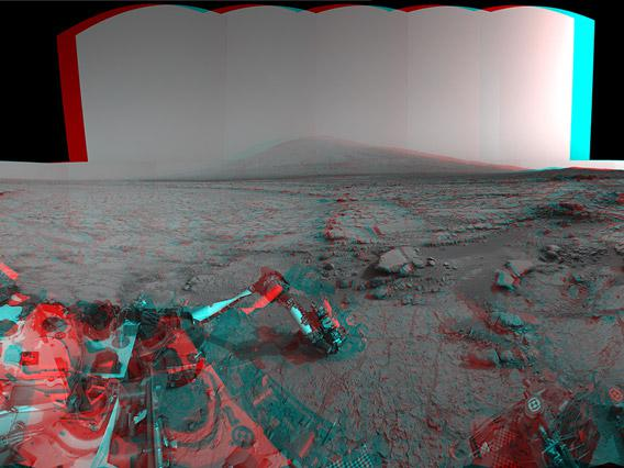3D anaglyph from Mars