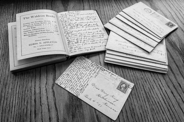 A bunch of handwritten letters