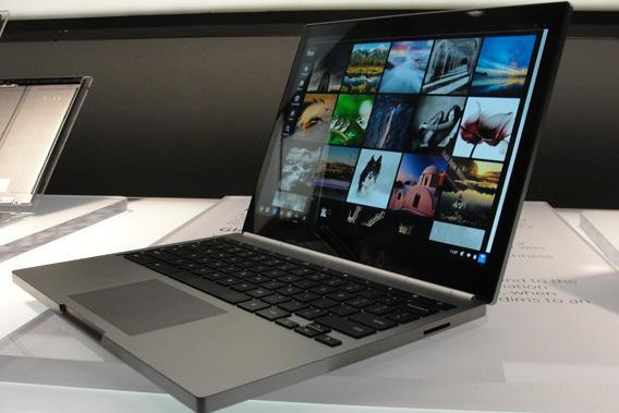 A Chromebook Pixel is on display on February 21, 2013 in San Francisco as Google unveiled the touch-screen notebook computer.