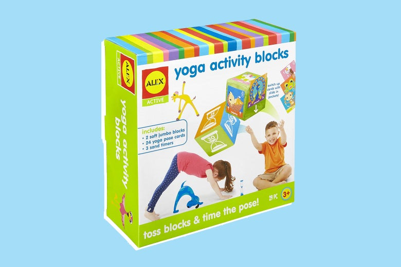Yoga activity blocks for kids.