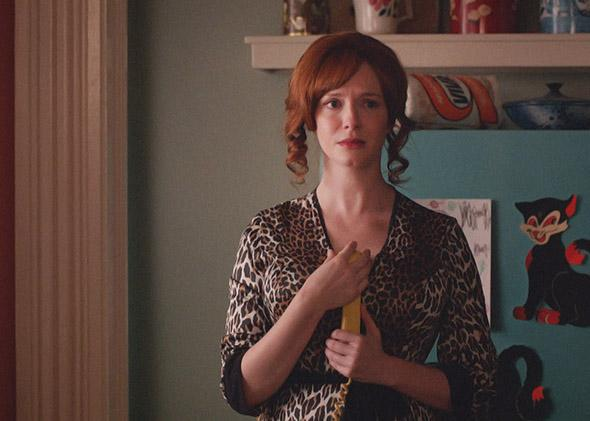 Christina Hendricks as Joan Harris in Mad Men.