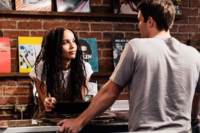 Zoë Kravitz and Jake Lacy in High Fidelity.