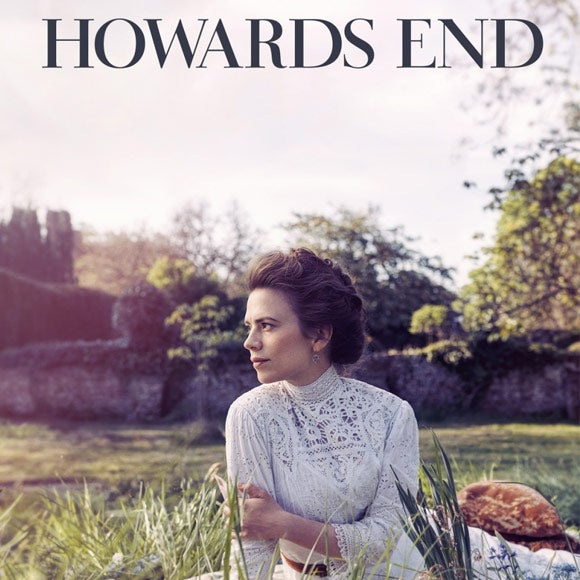 Title card for Howards End, featuring a woman in a white dress.