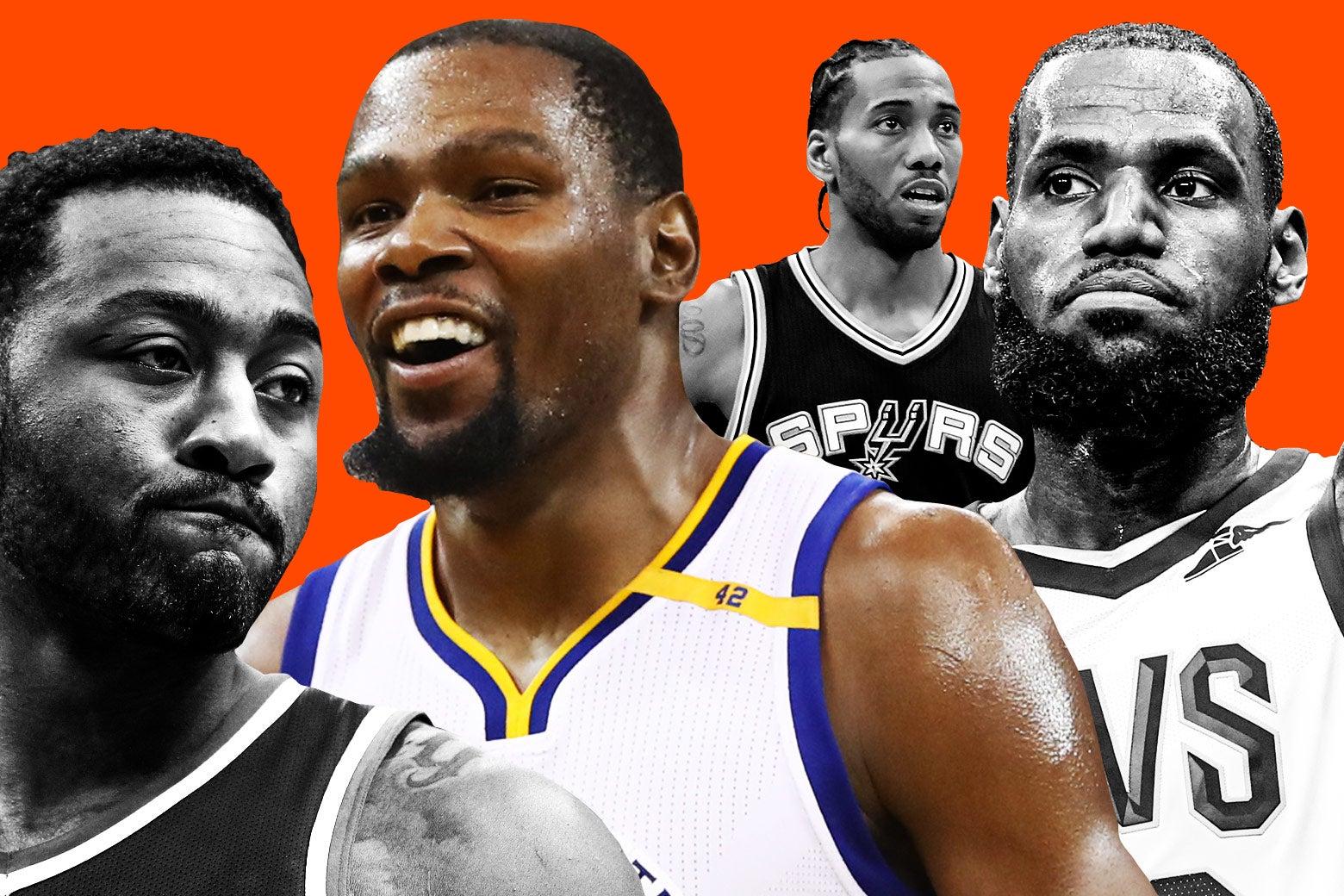 John Wall, Kevin Durant, Kawhi Leonard, and LeBron James.