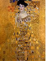 Gustav Klimt, Adele Bloch-Bauer I, 1907. Click image to expand.