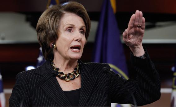 Nancy Pelosi defends contraception coverage.