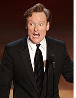 Emmy host Conan O'Brien. Click image to expand.