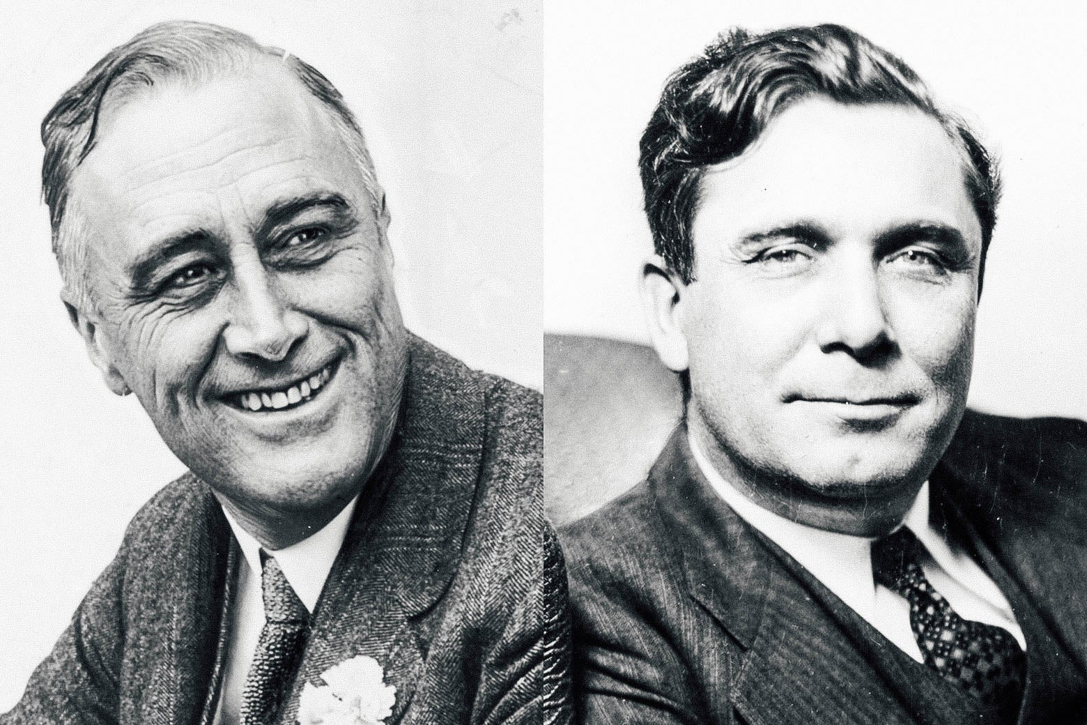 FDR and Wendell Willkie.