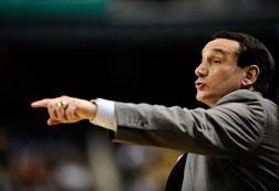 Coach Mike Krzyzewski. Click image to expand.
