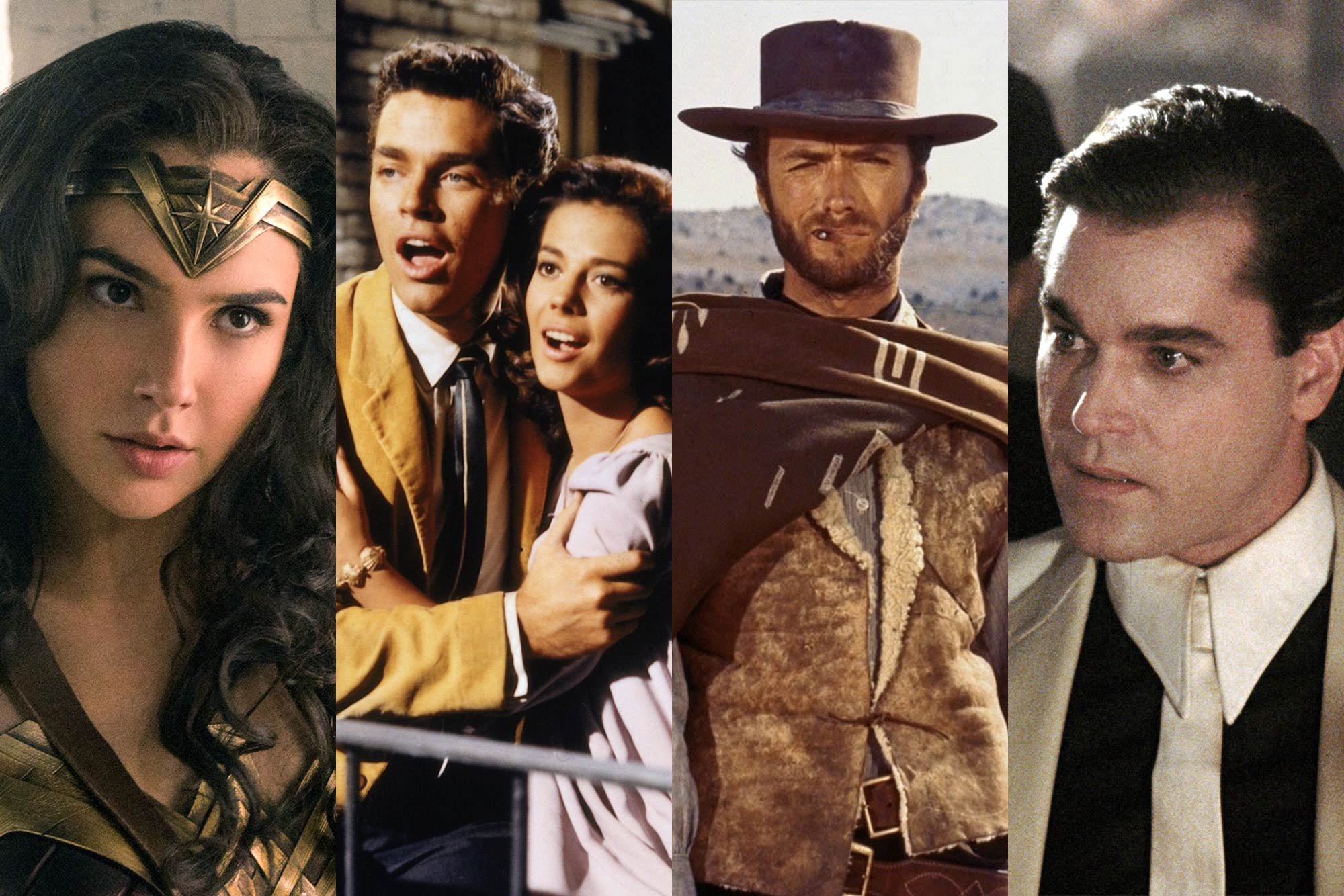 Wonder Woman, West Side Story, The Good, The Bad and the Ugly, GoodFellas.