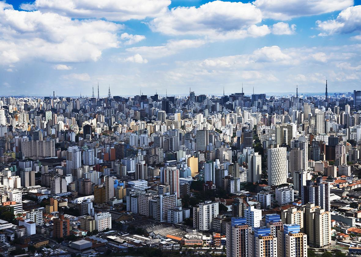 Aerial view of the city of São Paulo.