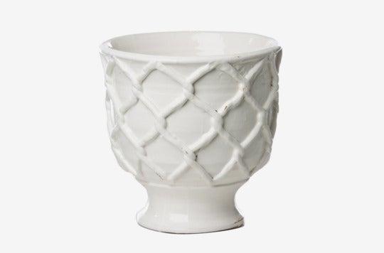 Abigail's Ceramic Vinci Criss Cross Pattern Planter.