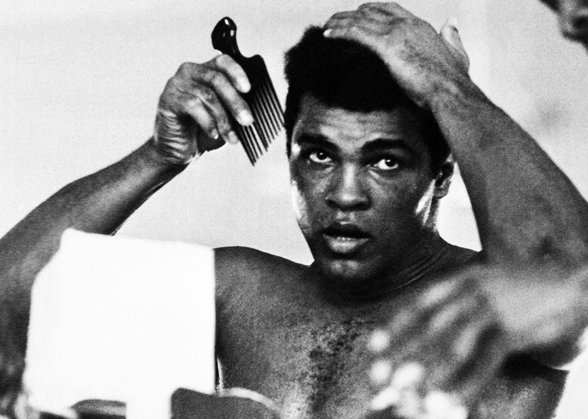 In this photo taken on October 19, 1974 shows US boxing heavyweight champion Muhammad Ali 11 days before the heavy weight world championship in Kinshasa.