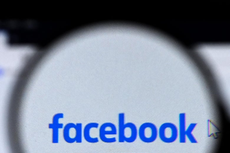The Facebook logo is pictured on a laptop screen in Moscow on August 26, 2021.