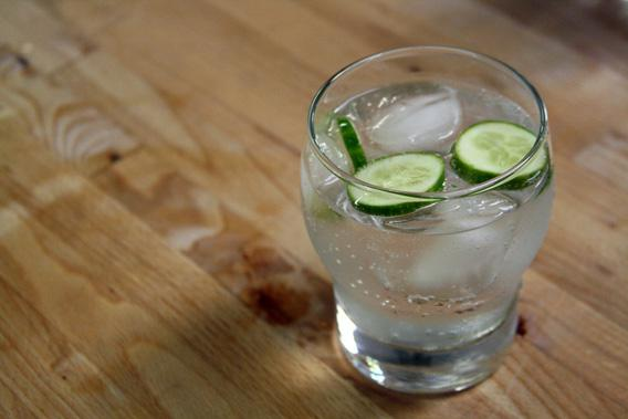 A gin and tonic.