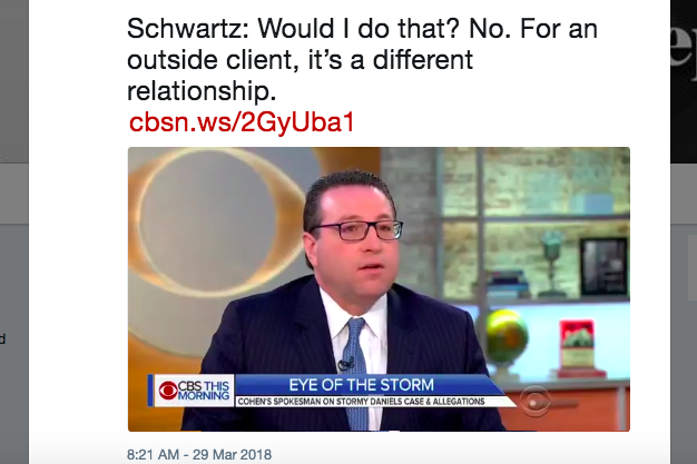 David Schwartz on CBS This Morning on Thursday.