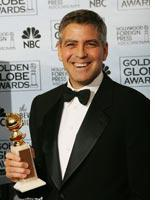 Clooney gets goofy at the Globes         Click image to expand.