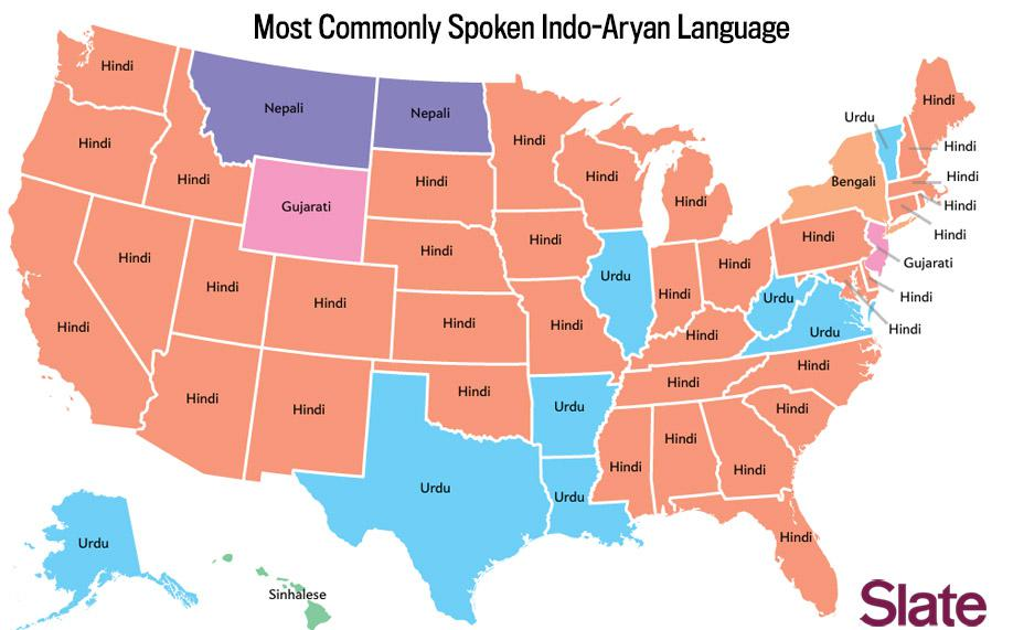 Language map: What's the most por language in your state? on map or usa, map of the usa com, map all the usa, full size map of usa,