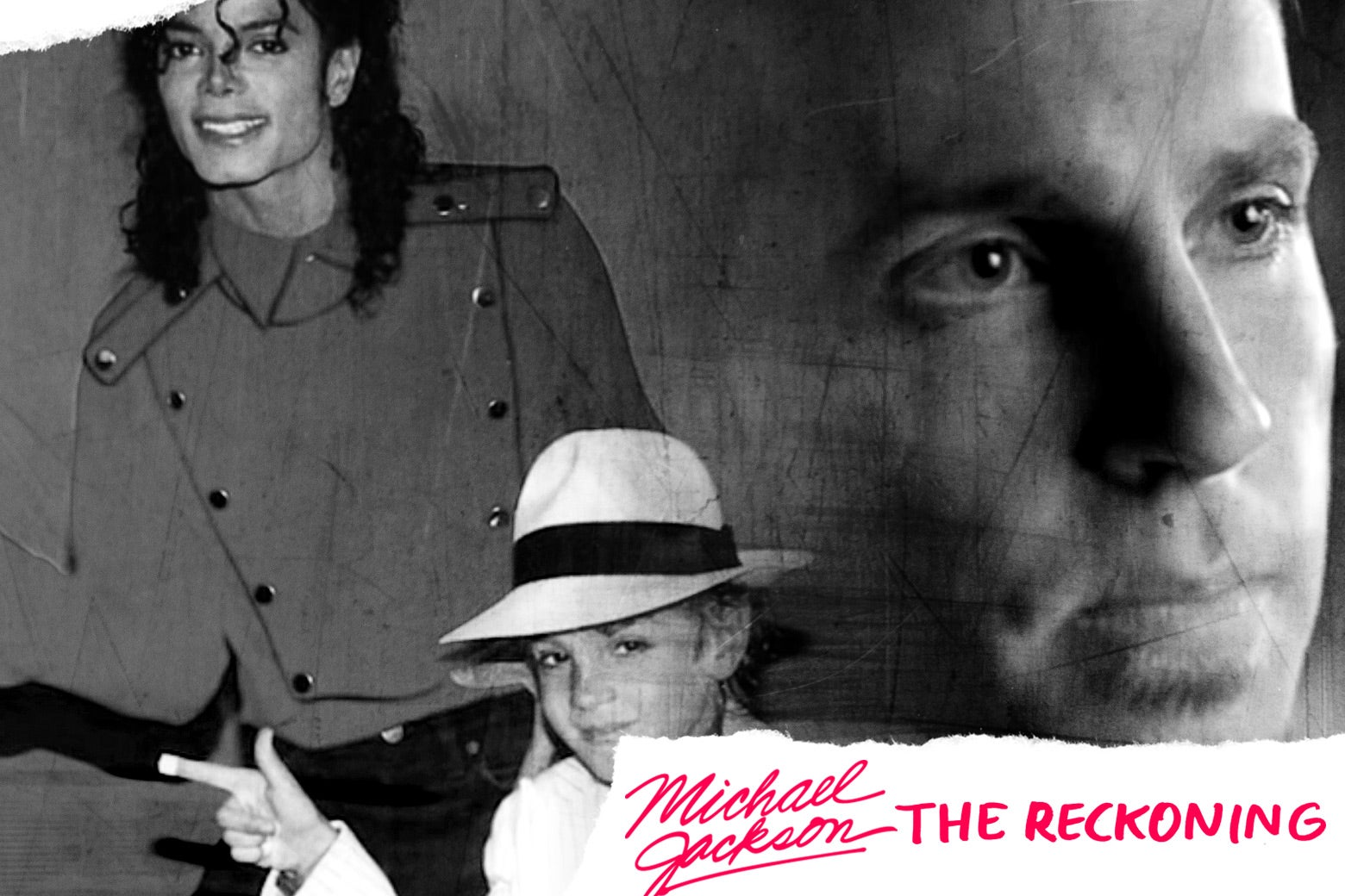 Collage of Wade Robson as a child posing with Michael Jackson and Wade Robson as an adult.