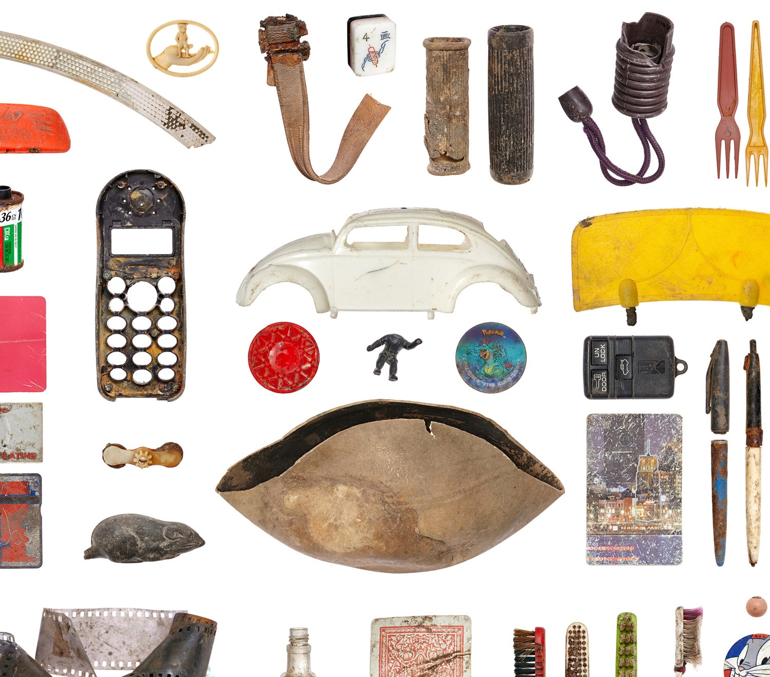 A selection of objects found during the dig.
