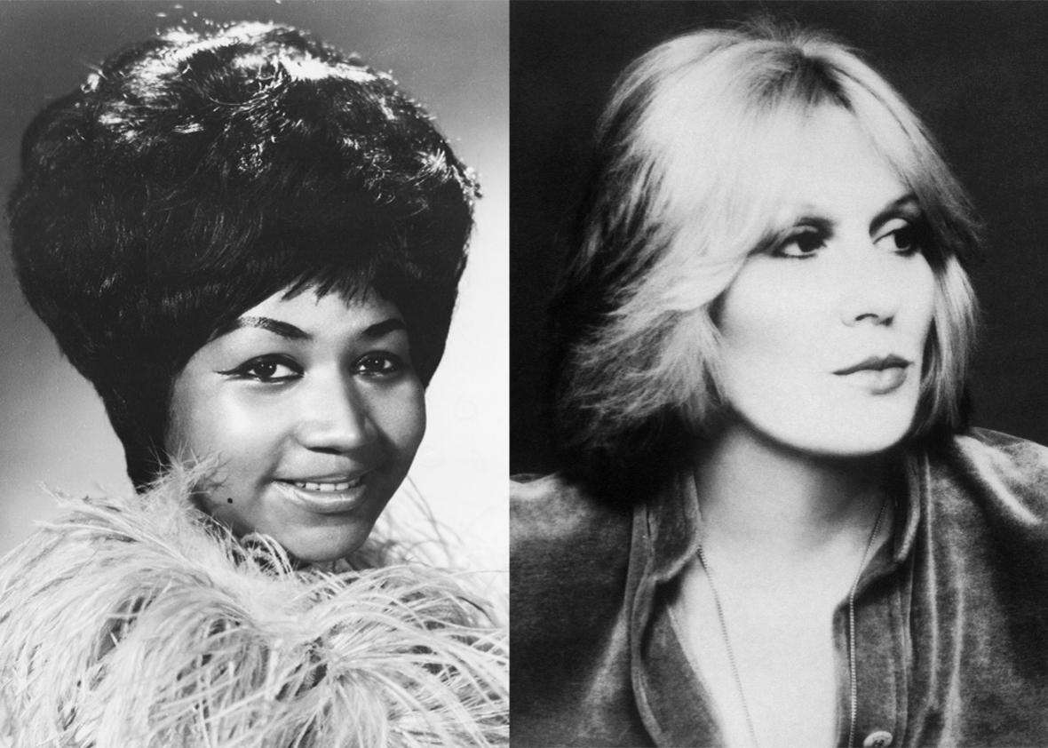 Aretha Franklin and Dusty Springfield, 1967.